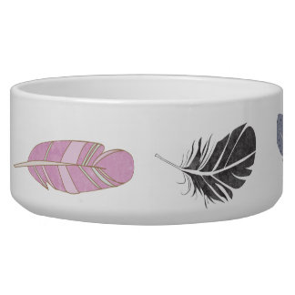 Dog Bowl with Feathers