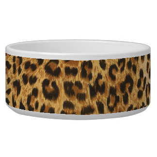 Dog bowl with leopard print