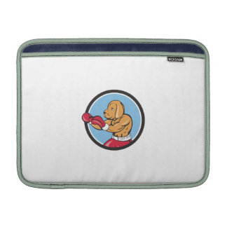 Dog Boxer Fighting Stance Circle Cartoon MacBook Air Sleeves
