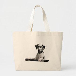 Dog breed Dalmatians Large Tote Bag