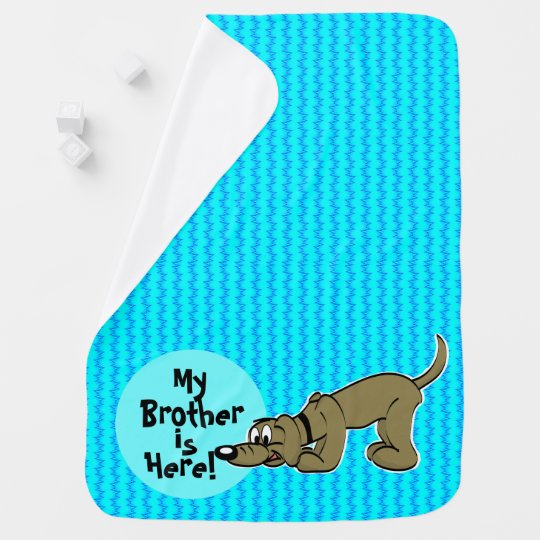 Dog Brother or Sister Welcome Baby Blanket