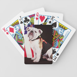 dog bulldog Navy official mascot Bicycle Playing Cards