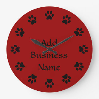 DOG Business PAWS WALL CLOCK for PETS