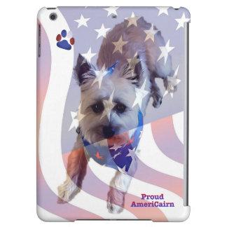 Dog Cairn Terrier America Flag Pride iPad Case