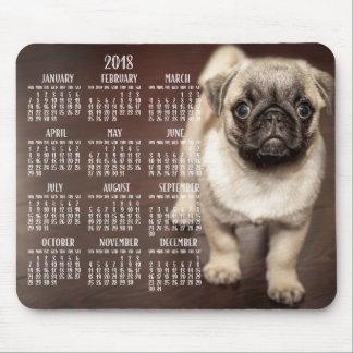 Dog Calendar 2018 Mouse Pad Cute Puppy