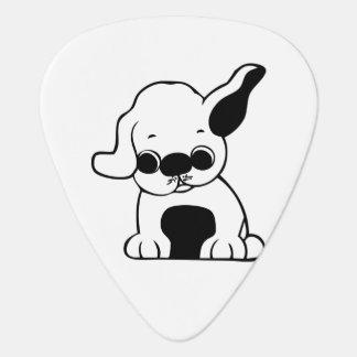 Dog cartoon guitar pick