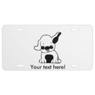 Dog cartoon license plate