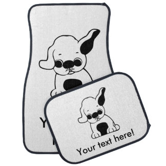 Dog cartoon car mat