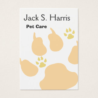 Dog Cat Animals Paw Print Professional Networking Business Card