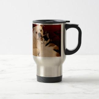 Dog Cat Cuddle Travel Mug