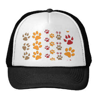 Dog & Cat Paw prints Design ~ editable background Trucker Hat
