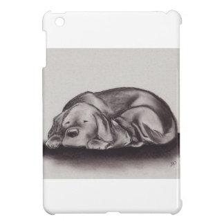 Dog & Cat Snuggle Sleeping iPad Mini Cover