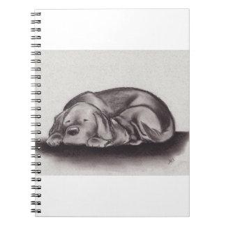 Dog & Cat Snuggle Sleeping Notebook