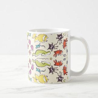 Dog cat sparrow Colorful cute symmetry Coffee Mug