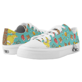 Dog cat sparrow Colorful cute symmetry Low-Top Sneakers