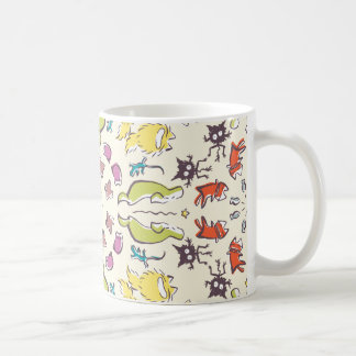Dog cat sparrow Colourful cute symmetry Coffee Mug