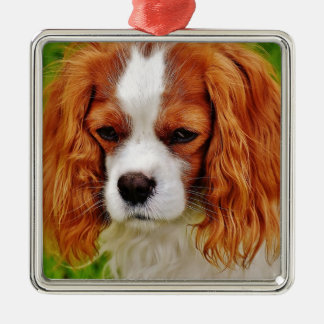 Dog Cavalier King Charles Spaniel Funny Pet Animal Metal Ornament