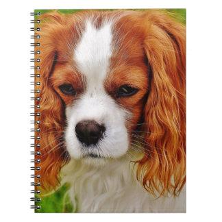 Dog Cavalier King Charles Spaniel Funny Pet Animal Spiral Notebook