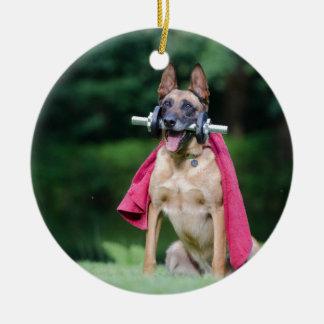 dog ceramic ornament