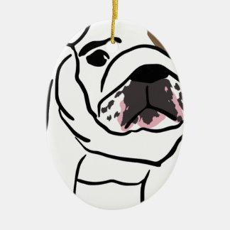 Dog Ceramic Oval Ornament