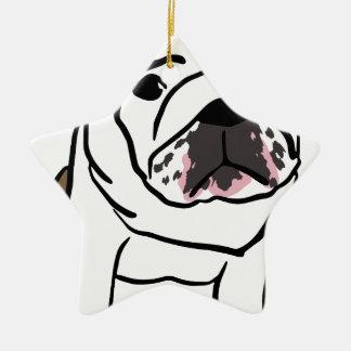 Dog Ceramic Star Ornament