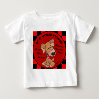 Dog Checker Board Baby T-Shirt