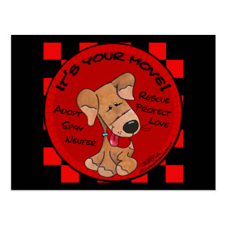 Dog Checker Board Postcard