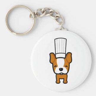 Dog Chef Art on Keychain