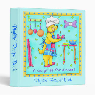 Dog Chef Recipe Notebook Binder