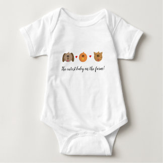 'Dog Chick Cat' Baby Jumper Baby Bodysuit