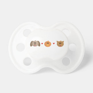 'Dog Chick Cat' Baby Pacifier / Soother