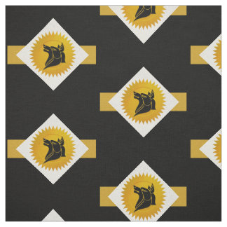 Dog Chinese Zodiac | Gold, White and Black Fabric