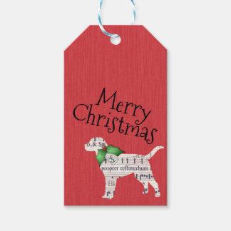 Dog Christmas Gift Tag