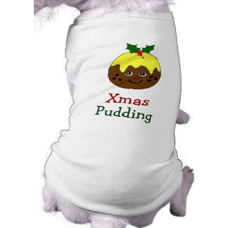 Dog Christmas Outfit -- English Christmas Pudding Shirt