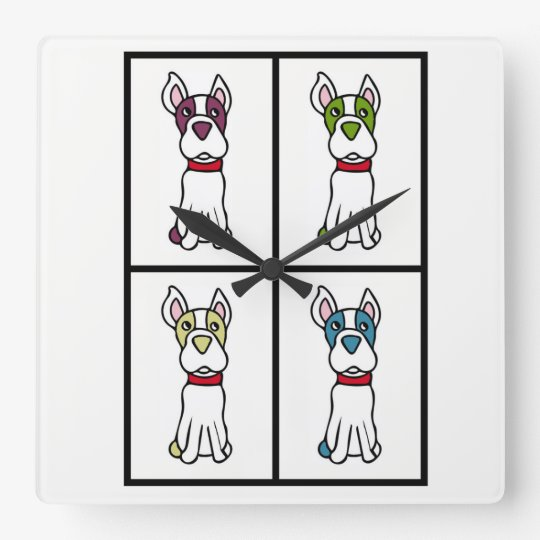 Dog Clock - Boston Terrier