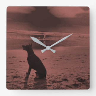 Dog Clock - Ocean