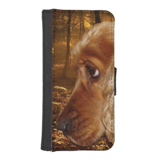 Dog Cocker Spaniel iPhone SE/5/5s Wallet Case