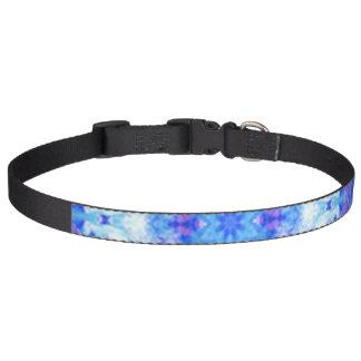 Dog Collar Blue Floral Design