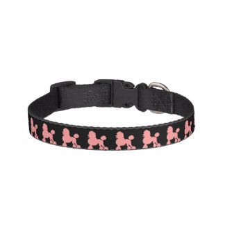 Dog Collar Pink Poodle