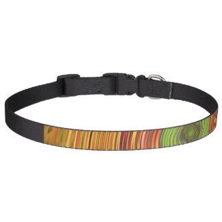 Dog Collar Swirl Yellow Design