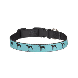 Dog Collar with Italian Greyhound Silhouette