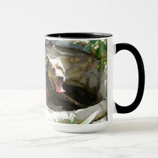 Dog Cooling in Water Mug