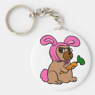 Dog costume rabbit keychain