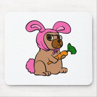 Dog costume rabbit mouse pad