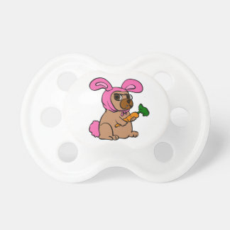 Dog costume rabbit pacifier