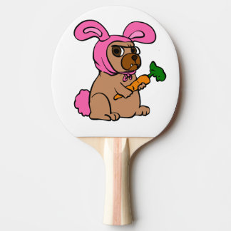 Dog costume rabbit ping pong paddle
