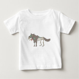 Dog Creepy Zombie With Rotting Flesh Outlined Hand Baby T-Shirt