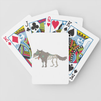 Dog Creepy Zombie With Rotting Flesh Outlined Hand Bicycle Playing Cards