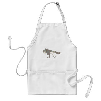 Dog Creepy Zombie With Rotting Flesh Outlined Hand Standard Apron