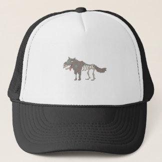 Dog Creepy Zombie With Rotting Flesh Outlined Hand Trucker Hat